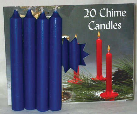 Dark Blue Chime Candle 20pk