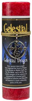 Celestial Dragon pillar candle