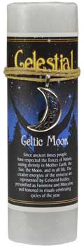 Celtic Moon pillar candle