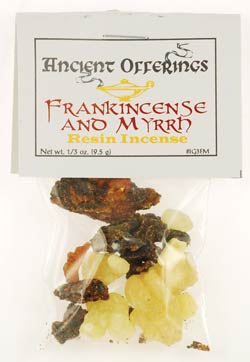 Frankincense & Myrrh granular incense 1/3 oz