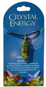Energy (unakite) double terminated