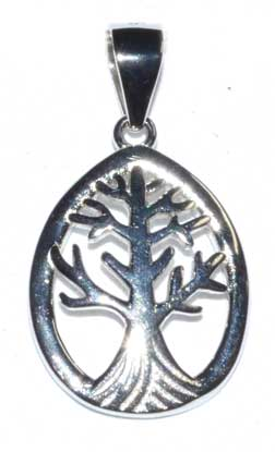 "5/8"" Tree of Life sterling pendant"