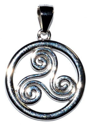 "5/8"" Trinity Spiral sterling pendant"