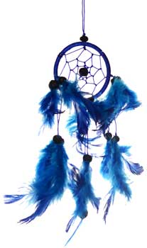 "3"" Blue dream catcher"