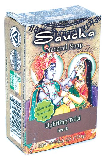 3.5oz Uplifting Tulsi soap